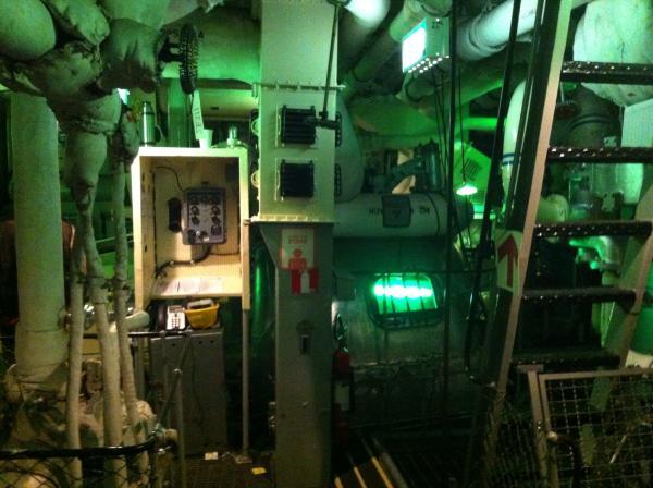 Inside the ship
